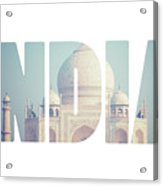 Taj Mahal , A Famous Historical Monument, A Monument Of Love, The Greatest White Marble Tomb In India, Agra, Uttar Pradesh  Acrylic Print