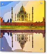 Taj Mahal At Sunrise Acrylic Print