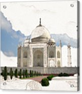 Taj Mahal Dreams Of India Acrylic Print