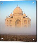 Taj Mahal In The Mist Acrylic Print