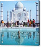 Taj Mahal  Acrylic Print by Nila Newsom
