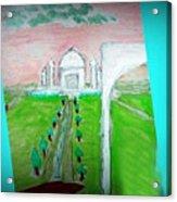 Taj Mahal Noon Acrylic Print