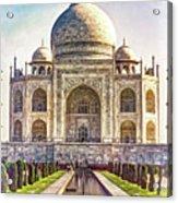 Taj Mahal - Paint Acrylic Print