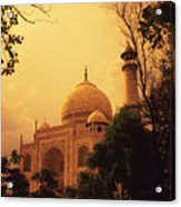 Taj Mahal Sunset Acrylic Print