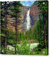 Takakkaw Falls Acrylic Print by Crystal Garner
