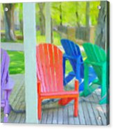 Take A Seat But Don't Take A Chair Acrylic Print
