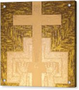 Take It To The Cross Silver Gold Acrylic Print