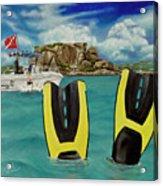 Take Me To Creole Rock Acrylic Print