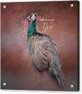 Take Time For You - Peacock Art Acrylic Print