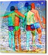 Taking The Plunge Together Acrylic Print
