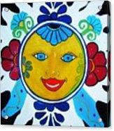 Talavera Sun Acrylic Print