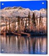 Talbot Lake Afternoon Panorama Acrylic Print