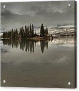 Talbot Lake Stormy Panorama Acrylic Print