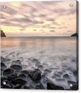 Talisker Bay Boulders At Sunset Acrylic Print