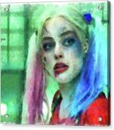 Talking To Harley Quinn - Aquarell Style Acrylic Print