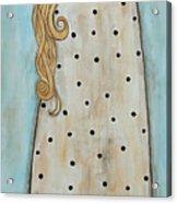 Tall Angel With Bird Acrylic Print by Rain Ririn