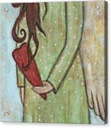 Tall Angel With Heart Acrylic Print