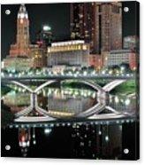 Tall Columbus Reflection Acrylic Print