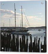 Tall Ship At Dock Acrylic Print
