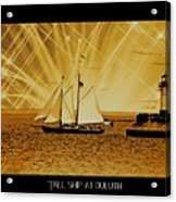 Tall Ship At Duluth Acrylic Print