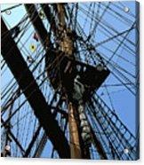Tall Ship Design By John Foster Dyess Acrylic Print