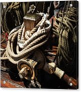 Tall Ship Details Acrylic Print