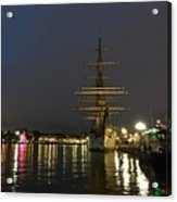Tall Ship Docked At The Baltimore Inner Harbor Acrylic Print