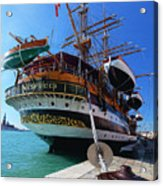 Tall Ship In Port Venice Acrylic Print