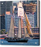 Tall Ship In San Diego  Acrylic Print