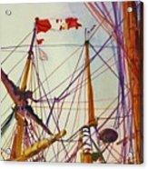 Tall Ship Lines Acrylic Print