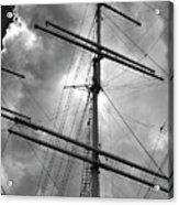 Tall Ship Masts Acrylic Print by Robert Ullmann