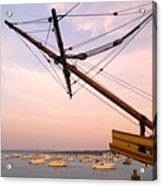 Tall Ship Mayflower II In Plymouth Massachusetts Acrylic Print