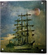 Tall Ship New York Harbor 1976 Acrylic Print