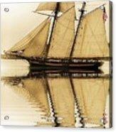 Tall Ship Sepia  Acrylic Print