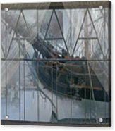 Tall Ship Through A Window Acrylic Print