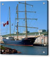 Tall Ship Waiting Acrylic Print