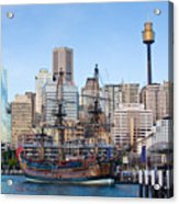 Tall Ships - Sydney Harbor Acrylic Print by Charles Warren