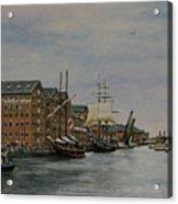 Tall Ships At Gloucester Docks Acrylic Print