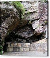 Tallulah Gorge Stone Bench 2 Acrylic Print