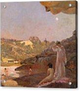 Tamarama Beach Forty Years Ago A Summer Morning  Acrylic Print