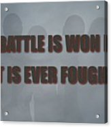 Tampa Bay Buccaneers Battle Acrylic Print