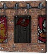 Tampa Bay Buccaneers Brick Wall Acrylic Print