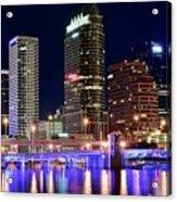 Tampa Bay Pano Lights Acrylic Print