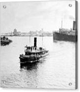 Tampa Florida - Harbor - C 1926 Acrylic Print
