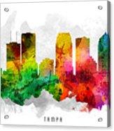 Tampa Florida Cityscape 12 Acrylic Print