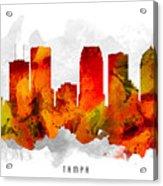 Tampa Florida Cityscape 15 Acrylic Print