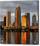 Tampa In Reflection Acrylic Print