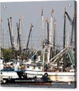 Tampa Shrimp Boats Acrylic Print