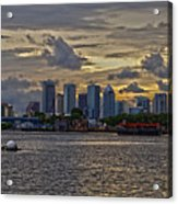 Tampa Skyline Acrylic Print