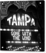 Tampa Theatre Gone With The Wind Acrylic Print